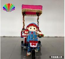 厂家直销新款特价广场音乐 彩灯 定时儿童机器人蹬车毛绒拉车批