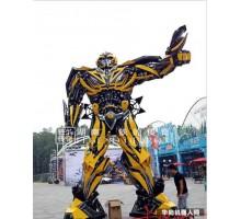 厂家定制6.5米大黄蜂变形金刚机器人 铁的传奇变形金刚铁艺机