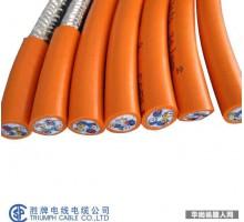 拖链线 耐油耐弯曲抗拉 机器人手臂电线 UL2587-4*0